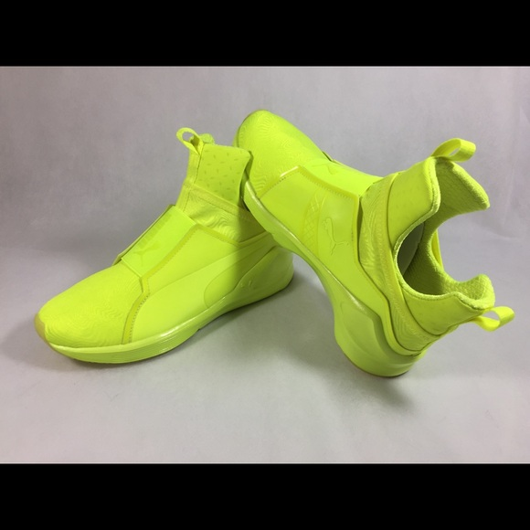 neon yellow puma fierce